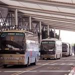 広州白云空港到着,リムジンバスで市内へ