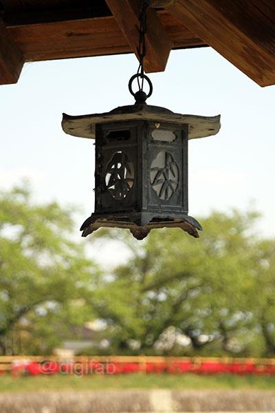 長岡天満宮の釣り灯篭